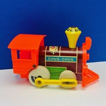 Fisher Price original antique toy 1960s vtg pull push Train Chug magnet usa  - $17.25
