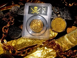 PERU 8 ESCUDOS 1711 RAW BOLD DETAILS PIRATE GOLD COINS TREASURE DOUBLOON... - $10,950.00