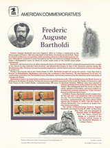 Official Frederic Auguste Bartholdi USPS Commemorative Panel (CP245) - $5.80