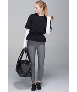 Lululemon Black Peplum Pullover Stretchy Sweat-shirt Post Workout Top Sh... - $53.13