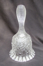 Daisy button bell Fenton flared ruffled bottom clear glass unmarked - $8.42
