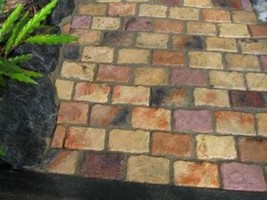 "Cobblestone Paver Molds 12 Make Patio Pavers 4x6"" For Walls Patios Garden Paths image 2"