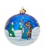 Reed & Barton Glass Christmas Carolers Ball Ornament Classic Glitter Gif... - $98.00