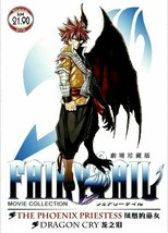 Fairy Tail Movie 1 & 2 The Phoenix Priestess & Dragon Cry GOOD Ship From USA