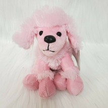 "6"" Animal Adventure Pink Poodle Dog Puppy Cuddle Zone Plush Lovey Toy B200 - $10.97"