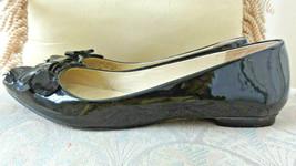 Kate Spade New York Black Ballet Flats Patent Leather Petals Bows Size 8 Us - $36.00