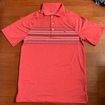 Vineyard Vines Mens Performance Pink Short Sleeve Polo Shirt Whale Logo ... - $24.73