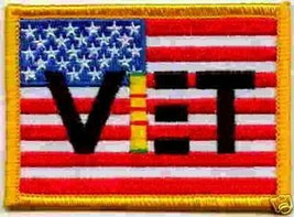VIETNAM VET FLAG AMERICAN MOTORCYCLE JACKET BIKER PATCH - $26.16
