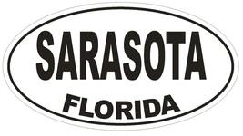 Sarasota Florida Oval Bumper Sticker or Helmet Sticker D1593 Euro Oval - $1.39+
