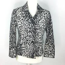 Talbots Blazer White/Black Women Size Petite 4P - $22.09