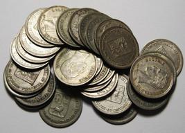 25 Centimos Venezuela 1.25 Gram .835 Fine Silver (30 COINS) Lot # N 373