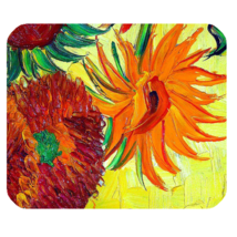Mouse Pad Vincent Van Gogh Sunflowers Beautiful Nature Flowers Paint Fantasy - $6.00