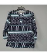 Van Huesen Hi Low Hem blouse S women's 3/4 Sleeves Popover Casual Carrie... - $23.97