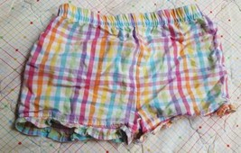 Sz 0-3, Garanimals Girl's Colorful Plaid Bubble Shorts, pre-owned, nice ... - $3.79
