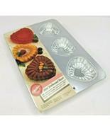 NEW 1994 Wilton 6 Mini Individual Embossed Hearts Cake Cupcake Pan 2105 ... - $12.59
