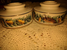 Pair vintage Avon china taper candle holders Pe... - $6.80