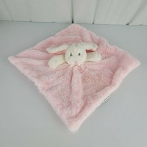 Blankets and & Beyond Pink White Bunny Baby Blanket Plush Fluffy Soft Gr... - $30.19