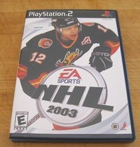 NHL 2003  (Sony PlayStation 2, 2002) - $1.27