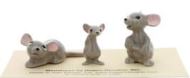Hagen-Renaker Miniature Ceramic Mouse Figurine 3 Piece Family Set image 3
