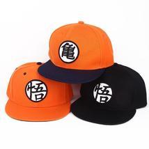 Cartoon Dragon Ball Z Son Goku Orange Summer Baseball Hat Cospaly Anime Fashion