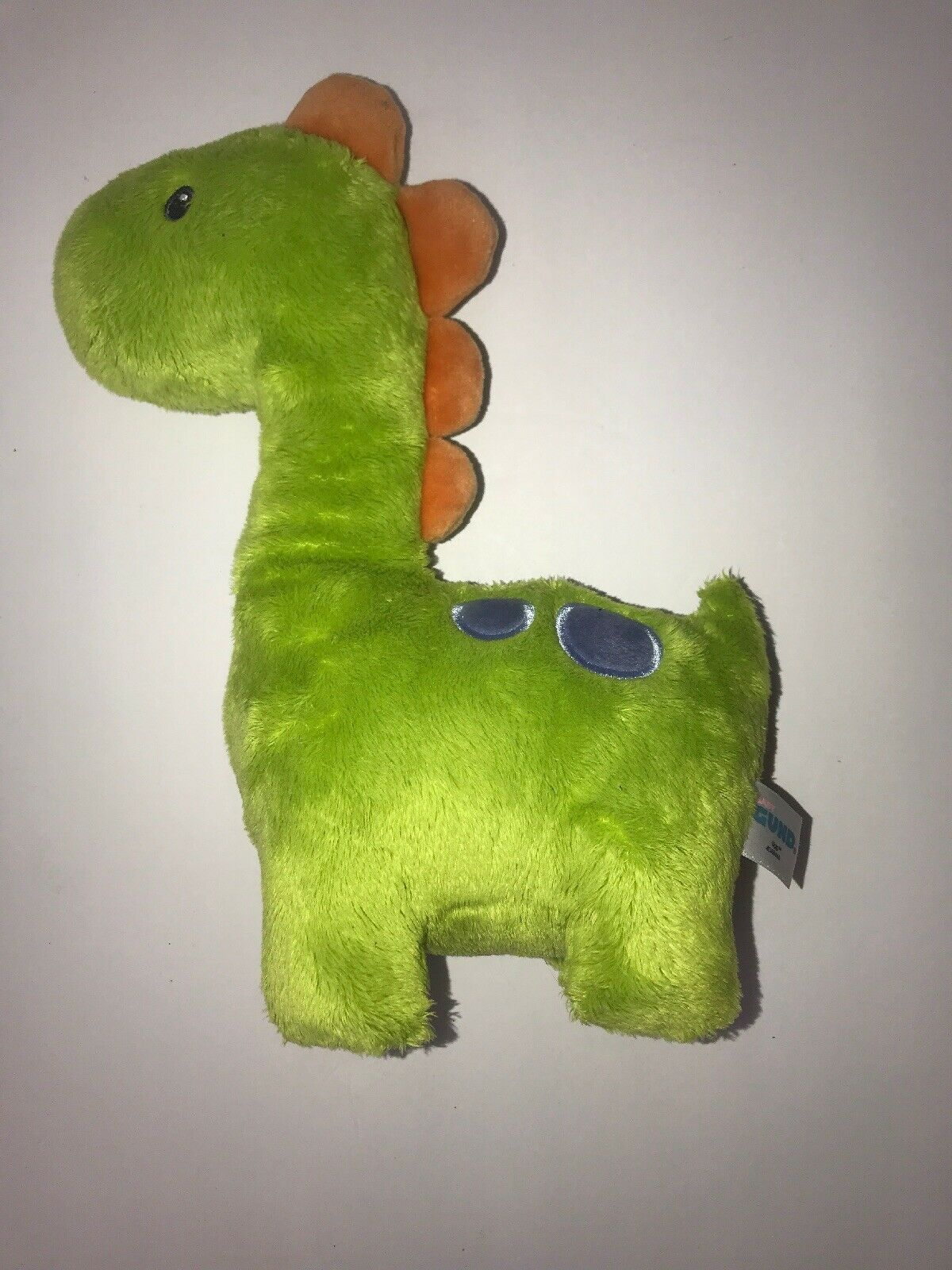 "Primary image for Baby Gund 10"" Plush Ugg Dinosaur Green 4048446 Blue Dots Stuffed Animal Toy"