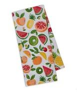 Fruity Printed Dish Towels Set of 2 Kitchen Cotton Summer Watermelon Cherry Kiwi - $19.39