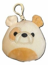 "Squishmallow Kellytoy 3.5 Inch Dog Clip On Keychain (3.5"" Brock The Bull... - $8.45"
