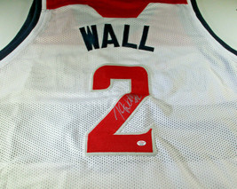 JOHN WALL / 5X NBA ALL-STAR / AUTOGRAPHED WASHINGTON WIZARDS CUSTOM JERSEY / COA image 1