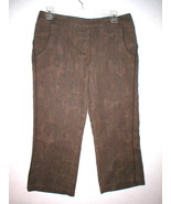 New Womens Crop Pants Capri To The Max Mid Rise Brown Plaid Dark 6 30 X ... - $72.00