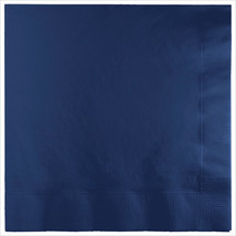 3 Ply 1/4 Fold Dinner Napkins Navy/Case of 250 - £30.84 GBP
