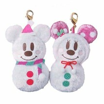 Tokyo Disney Resort Mickey & Minnie Mouse  Snow Snow Charm Set Snowman mascot  - $74.25
