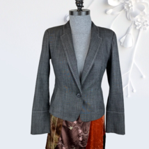 Worth New York womens Gray Wool Blend Blazer Jacket Career Business 4 Small - $74.99
