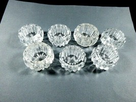 VTG Cut Glass 7 Individual Open Cellar Salt Zipper cut Pattern Clear Cry... - $51.48