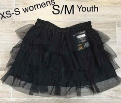 SPIRIT BLACK TUTU SKIRT S/M youth Girls / XS-S Juniors Halloween - $19.80
