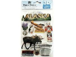 Paper House Alaska Glittered Dimensional Stickers #STDM-0116