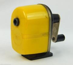 Vintage Sears Yellow Mountable Standard Size Pencil Sharpener #3757 - $18.69