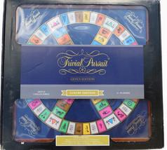 Hasbro Trivial Pursuit board game Luxury Genus Edition wood cabinet - $139.52