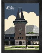 "Wartburg College ""Knights Chapel"" 13 x 16 Art Deco Framed Print  - $39.95"