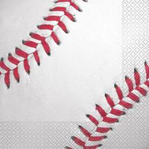 BASEBALL LUNCH NAPKINS (16) ~ Sports Birthday Party Supplies Serviettes MLB - $6.62