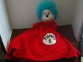 universal studios dr seuss cat in the hat thing 1 security blanket plush - $24.99