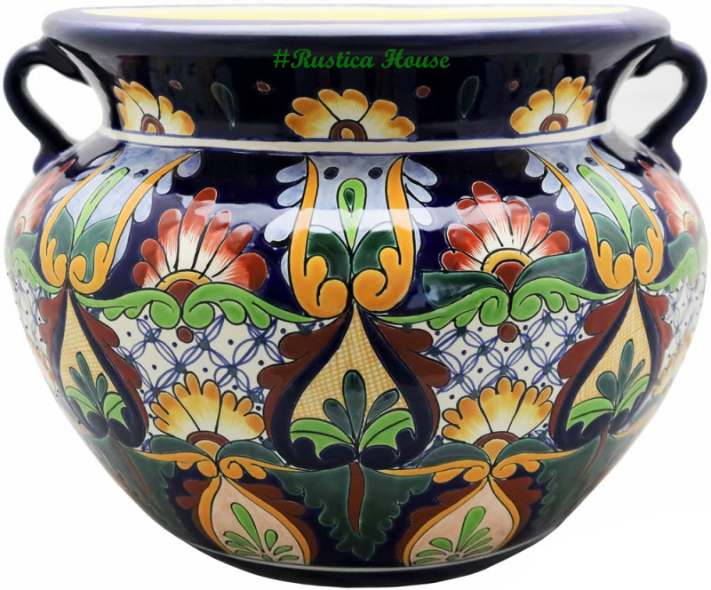 90314 ceramic talavera mexican hand painted planters 1 size1