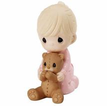 I Pray The Lord My Soul To Keep Precious Moments Figurine Girl Teddy Bea... - $35.63