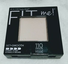 Maybelline New York Fit Me 110 Porcelain Powder Set + Smooth Face Powder New - $6.12