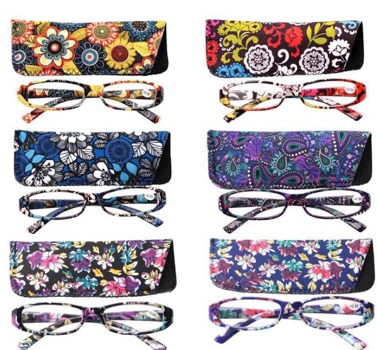 1be78cf11e5 Reading Glasses Women Square Flower Frame and similar items. S l1600