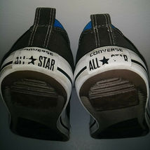 CONVERSE ALL STAR Gray Blue White Low Top Shoes Thick Tongue Mens 7 Womens 9 image 9