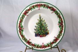 Christopher Radko 2015 Holiday Celebrations Christmas Tree Rimmed Soup Bowl - $6.99