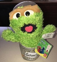 "Sesame Street Oscar the Grouch Scram Garbage Can Plush 10"" Gund 2003 NWT - $31.67"