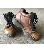 Dr Marten's DM's Leather Ankle Boot Sz 6 Made In England Brown 8550 2000... - $43.55