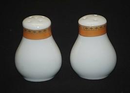 Alpine Cuisine Salt & Pepper Shakers w Gold Geometric Designs Porcelain ... - $12.86