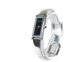 Auth GUCCI 1500L Stainless Steel Black Dial Ladies Watch GW15932L - $250.78 CAD